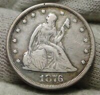 1876 TWENTY CENT PIECE 20 CENTS     ONLY 14 640 MINTED NICE COIN  8148