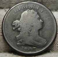 1807 DRAPED BUST HALF CENT -  COIN, SHIPS FREE  7226