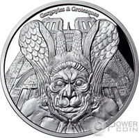 SPITTER GARGOYLES AND GROTESQUES PROOF 1 OZ SILVER COIN 1000