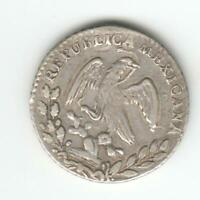 MEXICO 1861 SILVER 1 REAL COIN.AUCTION STARTS AT 1 MEXICO