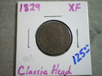 1829 CLASSIC HEAD HALF CENT UNCERTIFIED---SHIPS FREE----------