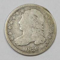 BARGAIN 1836 CAPPED BUST SILVER DIME GOOD SILVER 10C