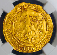 Click now to see the BUY IT NOW Price! 1593 NETHERLANDS KAMPEN CATHOLIC MONARCHS.  GOLD 2 DUCATS COIN. NGC MS62