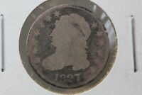 1827 CAPPED BUST DIME 6NJZ