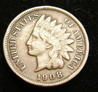 INDIAN HEAD 1 CENT COIN--------1908