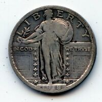 1918-P STANDING LIBERTY QUARTER SEE PROMO