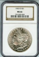 1903-O $1 MORGAN SILVER DOLLAR $ NGC MINT STATE 66