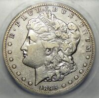1895-S ICG VF20, VAM 1A DIE BREAK THRU-D MORGAN DOLLAR
