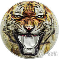 BENGAL TIGER RARE WILDLIFE 2 OZ SILVER COIN 1500 SHILLINGS T