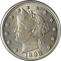 1898 LIBERTY V NICKEL GREAT DEALS FROM THE EXECUTIVE COIN COMPANY