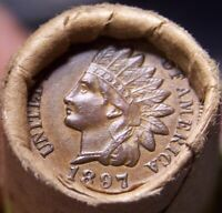 3 CENT NICKEL TAIL/1897 INDIAN HEAD ENDS MIXED ANTIQUE ROLL