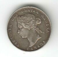 CANADA 1872 25 CENTS SILVER COIN AUCTION STARTS 1 LOVELY CON