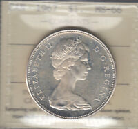 1967   MS 66  CANADA SILVER DOLLAR  ICCS CERTIFIED