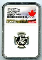 2017 CANADA 150TH WINGS OF PEACE 10 CENT NGC PF70 FIRST RELE