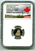 2019 CANADA 10 CENT SPECIAL D DAY PROOF NGC PF69 BLUENOSE DI