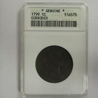 1799 LARGE CENT LY  HTF ANACS FINE DETAILS