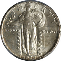 1926-D STANDING LIBERTY QUARTER PCGS MINT STATE 64 GREAT EYE APPEAL  STRIKE