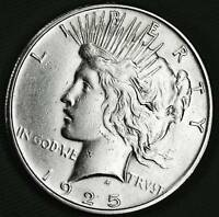 1925-S SILVER DOLLAR.   FULL EAGLES FEATHERS.   HIGH GRADE INV.A
