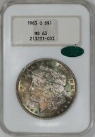 1903 O MORGAN SILVER DOLLAR $1 NGC MINT STATE 63 MINT UNC OLD HOLDER - SWEET COLOR 003