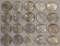 1926-P - PEACE DOLLAR - EXTRA FINE  - ONE ROLL - 20 COINS