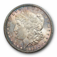 1893 CC $1 MORGAN DOLLAR PCGS MINT STATE 62 UNCIRCULATED CARSON CITY MINT KEY DATE TONED