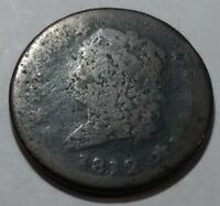 1812 CLASSIC HEAD U.S. LARGE CENT. LOT1 AG, SCATTERED POROSITY