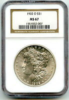 1902-O MORGAN SILVER DOLLAR NGC MINT STATE 67