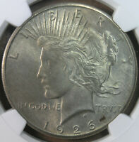 $1 1926 PEACE SILVER DOLLAR NGC MINT STATE 63 TONED KOEHLER COLLECTION  AVENUECOIN