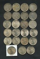 PEACE DOLLAR $1 SILVER COIN LOT OF  23  1922   1925