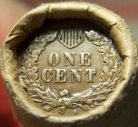 S TAIL INDIAN/1863 INDIAN HEAD CENT ENDS MIXED ANTIQUE ROLL