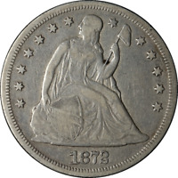 1872-P SEATED LIBERTY DOLLAR CHOICE F SUPERB EYE APPEAL STRONG STRIKE