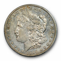 1896 S $1 MORGAN DOLLAR PCGS AU 53 ABOUT UNCIRCULATED TO MINT STATE ORIGINAL