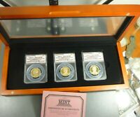 2016-S PRESIDENTIAL DOLLARS PROOF SET 3 COINS ANACS PR70 DCAM FIRST DAY OF ISSUE