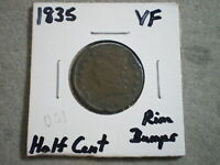 1835 CLASSIC HEAD HALF CENT/ RIM DINGS  {}{UNCERTIFIED}{}--SHIPS FREE