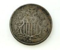 1867 US SHIELD NICKEL ESTATE COIN NO RESERVE
