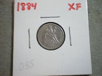 1884 SEATED LIBERTY DIME UNITED STATES  {}{UNCERTIFIED}{}