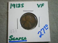 1913-S LINCOLN WHEAT CENT/ --UNCERTIFIED--