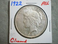 1922 PEACE SILVER DOLLAR/ CLEANED  ---UNCERTIFIED---