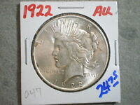 1922 PEACE SILVER DOLLAR/ LIGHT TONING -UNCERTIFIED-