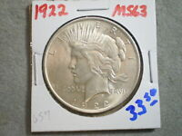 1922 PEACE SILVER DOLLAR/  ORIGINAL TONING     -\UNCERTIFIED//-