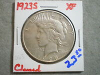 1923-S PEACE SILVER DOLLAR/ CLEANING      -\UNCERTIFIED//-
