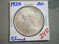 1925 PEACE SILVER DOLLAR/ CLEANED   --UNCERTIFIED--