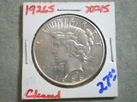 1926-S PEACE SILVER DOLLAR/ POLISHED-CLEANED   -\UNCERTIFIED//---SHIPS FREE