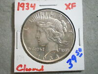 1934 PEACE SILVER DOLLAR/ CLEANING    -\UNCERTIFIED//----SHIPS FREE---------