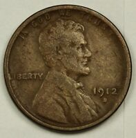 1912-S LINCOLN HEAD CENT.  STRONG FINE-V.F.  138452