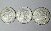 LOT OF 3 MORGAN SILVER DOLLARS 1880-O 1882-P 1883-P EXTRA FINE  DETAILS 71819