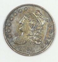 BARGAIN 1834 CAPPED BUST SILVER HALF DIME ALMOST UNCIRCULATED 5C
