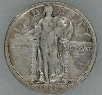 1918 S STANDING LIBERTY QUARTER 25C SILVER CHOICE EXTRA FINE  EXTRA FINE 8939
