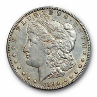 1894 S $1 MORGAN DOLLAR PCGS AU 50 ABOUT UNCIRCULATED BETTER DATE