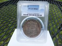1898 O MORGAN SILVER DOLLAR PCGS MINT STATE 63 $1 COIN . GREAT TONING